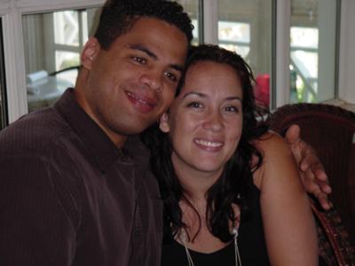 My husband Jubal and I